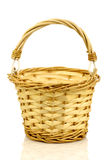 Empty wicker basket with handle Royalty Free Stock Photos