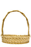 Empty wicker basket isolated Stock Images