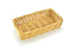 Free Empty Wicker Basket Isolated On White Stock Image - 58359661