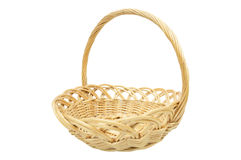 Empty wicker basket isolated on white. An empty wicker basket isolated on white Royalty Free Stock Photo