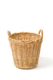 Empty wicker basket isolated Royalty Free Stock Photo