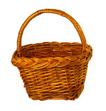 Empty wicker basket isolated Royalty Free Stock Image