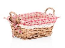 Empty wicker basket Stock Image
