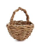 Empty wicker basket isolated on white Stock Image