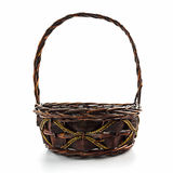 Empty wicker basket. Stock Photo