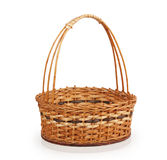 Empty wicker basket Stock Images