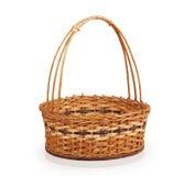 Empty wicker basket Stock Images