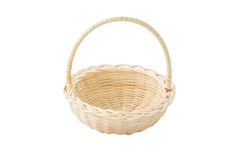 Empty wicker basket isolated royalty free stock images