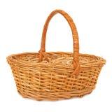 Empty wicker basket. Royalty Free Stock Photography