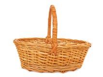 Empty wicker basket. Isolated on white Stock Image