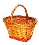 Empty wicker basket. Isolated on white background. Stock Images