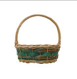 Empty wicker basket isolated on white background. Stock Images