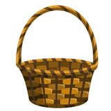 Empty wicker basket isolated Stock Photography
