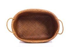 Free Empty Wicker Basket On White Background Stock Photos - 72380843