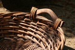 Empty wicker basket on the street Stock Image