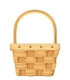 Empty wicker basket. Vector illustration. Royalty Free Stock Photography