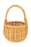 Empty wicker basket on white backgorund Stock Photography