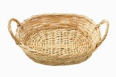 Empty Wicker Basket Stock Photography