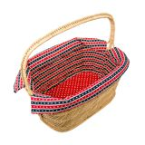 Empty wicker basket. On white background Royalty Free Stock Photo