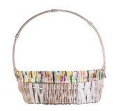 Empty wicker basket Stock Photos