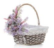 Empty wicker basket on white. Empty wicker basket on a white background Stock Images