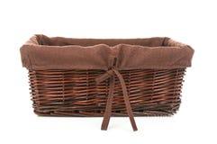 Empty wicker basket. On white background Stock Photo