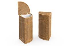 Empty wicker baskets decorative Royalty Free Stock Photos
