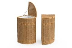 Empty wicker baskets decorative Stock Photo