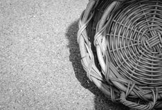 Empty wicker baskets on the street Stock Photo
