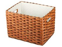 Empty wicker box Royalty Free Stock Photos