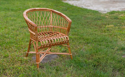 Empty wicker chair Royalty Free Stock Photo