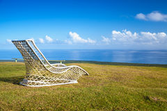 Empty wicker chair on Montana Redonda Royalty Free Stock Image