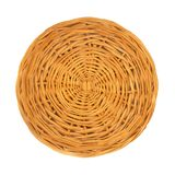 An empty wicker dish on white background. Stock Photos