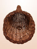 Empty Wicker Horn Basket Stock Photography