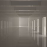 Empty Wide Corridor Royalty Free Stock Images