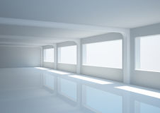 Empty wide hall with columns Stock Photos