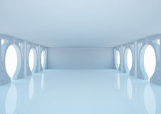 Empty wide room, abstract interior Royalty Free Stock Photography