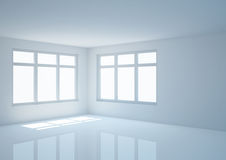 Empty wide room, angular view Royalty Free Stock Photos
