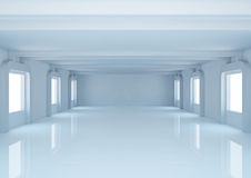 Empty wide room with balks Stock Images