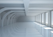 Empty wide room with balks Stock Photo