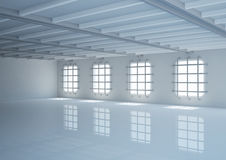 Empty wide room with balks and grating Royalty Free Stock Images
