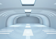 Empty wide room with balks and narrow openings Royalty Free Stock Images