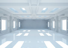 Empty wide room with balks and narrow openings Royalty Free Stock Image