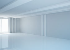Empty wide room with balks, usual interior Royalty Free Stock Image