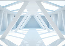Empty wide room with columns, abstract interior Stock Photos