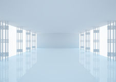 Empty wide room with construction Stock Photography