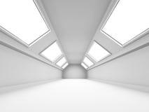 Empty Wide Room Futuristic Interior Background Stock Photos