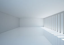 Empty wide room with narrow openings Royalty Free Stock Image