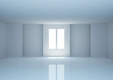 Empty wide room with niches Royalty Free Stock Photography