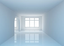 Empty wide room with a partition Stock Photography